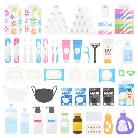 日用品、消耗品のイラストセット