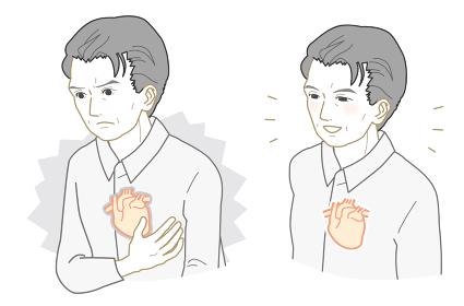 不健康な心臓、健康な心臓のおじいさん