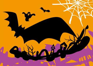 ハロウィンの背景イラスト