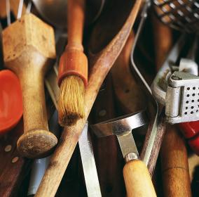 Kitchen utensils, close up