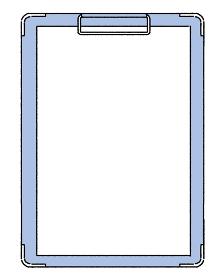 シンプルなタッチ カルテ、クリップボードのイラスト