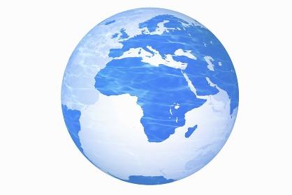 地球儀、アフリカ