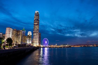 Central, Hong Kong 15 August 2017:- Hong Kong in the evening