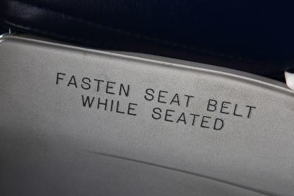 シートベルト着用サイン