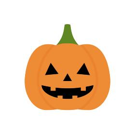 ハロウィンのかわいいかぼちゃのランタン・ジャックオーランタンの素材:10月イメージのイラスト