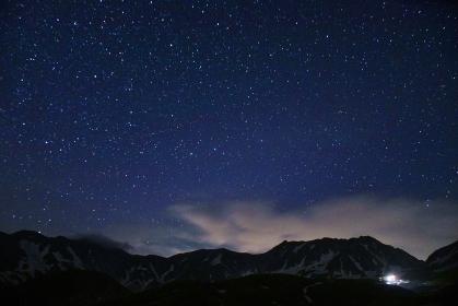立山連峰 満天の星空