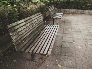 誰も座っていない公園のベンチ