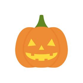 光るかわいいハロウィンのかぼちゃのランタン、ジャックオーランタンの素材:10月イメージのイラスト