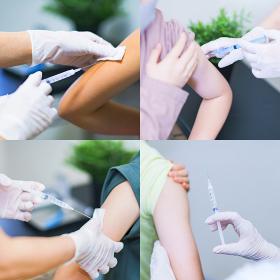 ワクチン 接種 筋肉注射 【 コロナ 医療現場 イメージ】