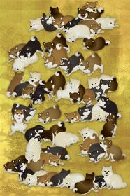 たくさんの子犬 イラスト
