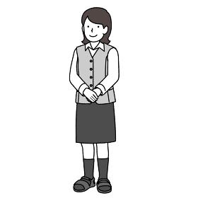 受付で働く女性