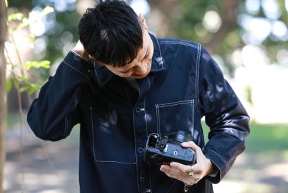 電池を忘れたカメラマン