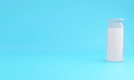 牛乳瓶3DCGイラスト画像
