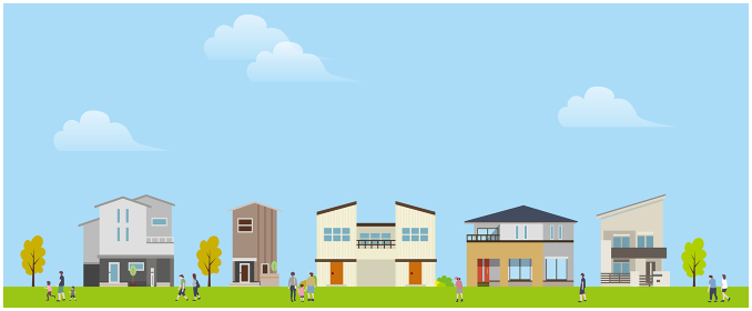 住宅地 建物 風景