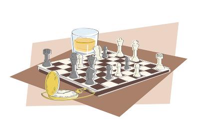 チェスと懐中時計、