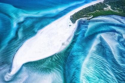 オーストラリア・グレートバリアリーフ ホワイトヘブンビーチの風景