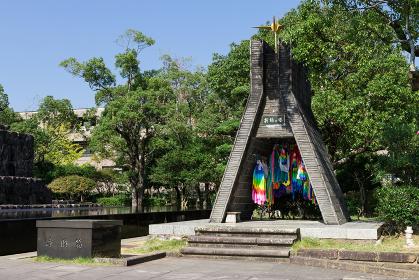 長崎市平和公園 折鶴の塔