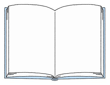 シンプルな開いた白い本のイラスト