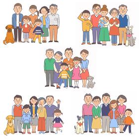 3世代家族 5組 セット