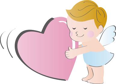 バレンタイン 天使 キューピッド イラスト素材