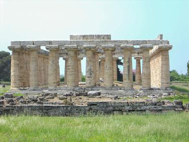 archaeological excavations paestum in naples