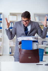 Employee with too much work taking it home