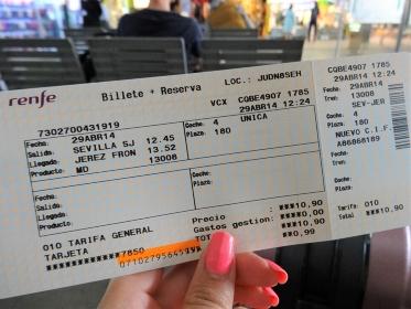 電車のチケット(スペイン・国鉄高速鉄道)