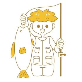 大きい魚が釣れた!