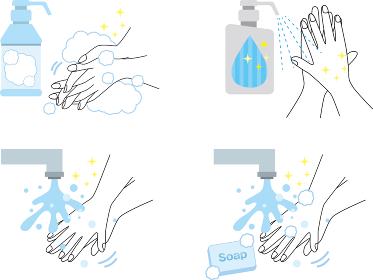 手洗い:手洗い 手順 表 説明 手 手を洗う 衛生 エチケット ウィルス ばい菌 感染予防 感染対策