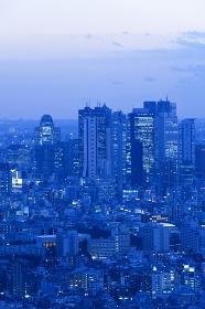 新宿の街並み 夕景