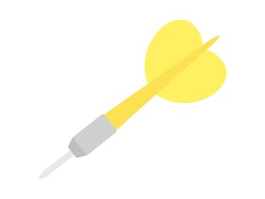 ダーツの矢のイラスト