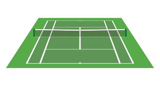 奥行きのあるテニスコート
