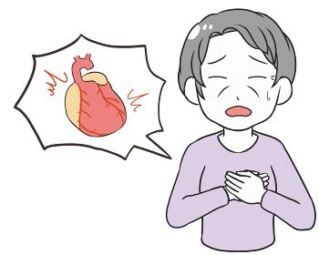 動悸 両手 心臓付き 高齢女性