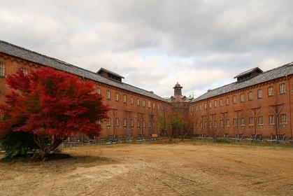 旧奈良監獄の古い赤レンガの塔屋(奈良市・奈良)
