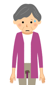 失禁した高齢者女性