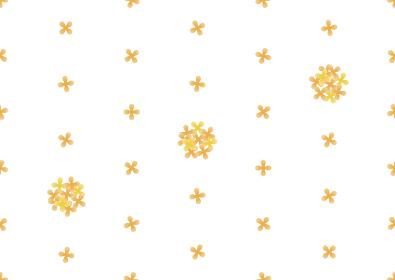 キンモクセイのシームレスなドット背景のイラスト 2