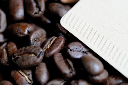フィルターとコーヒー豆の素材