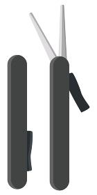 イラスト素材 携帯はさみ ハサミ 刃物 鉄 事務用品 工作 学校 ベクター
