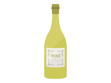 白ワインボトルのイラスト
