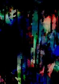 幻想的な緑と水色の縦線の水彩テクスチャ背景