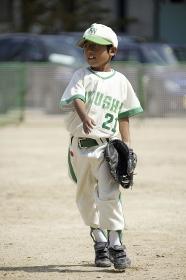 少年野球の外野手