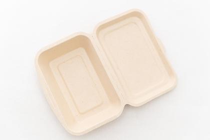 リサイクル可能なパルプ素材の弁当箱
