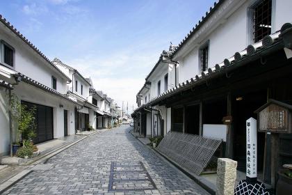 柳井の白壁の街並み 山口県柳井市