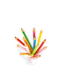 グラスの色鉛筆