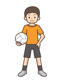 バレーボールをする男の子