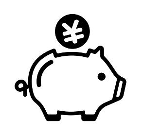 豚の貯金箱・貯蓄・節約・収入 アイコン (日本円)