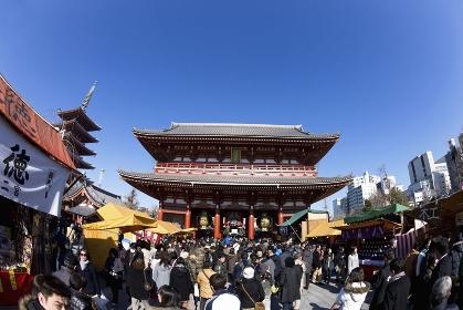 正月の浅草寺