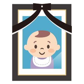 赤ちゃんの遺影写真