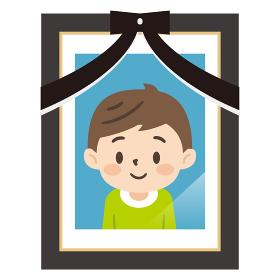 男の子の遺影写真