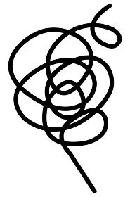 ペン画 渦巻き